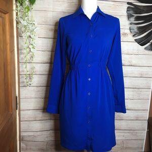 Calvin Klein neon blue long sleeves dress size 2